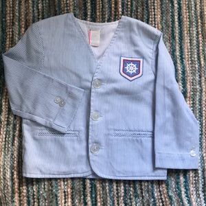 Vintage toddler boys nautical striped jacket
